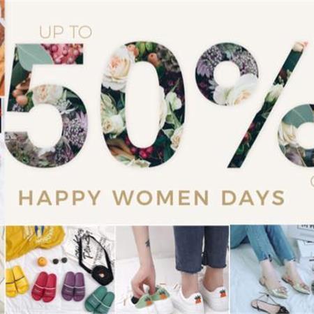 HAPPY WOMEN'S DAY SALE UP TO 50%-ƯU ĐÃI LỚN NHẤT THÁNG 10